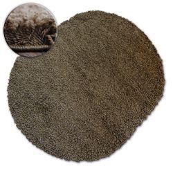 Teppich oval SHAGGY GALAXY 9000 braun
