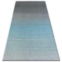 Teppich LISBOA 27208/954 Structural Schwarz Türkis