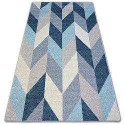 Teppich NORDIC TANNE blau G4582 Fischgrätenmuster