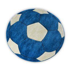 Teppich für Kinder KREIS HAPPY Fußball blau