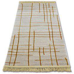 Teppich ACRYL MANYAS 191AA Elfenbein/Gold Franse