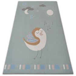 Teppich für Kinder LOKO Vogel grün Antirutsch