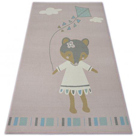 Teppich für Kinder LOKO Maus rosa Antirutsch