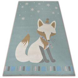 Teppich für Kinder LOKO Fuchs grün Antirutsch