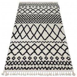 Teppich BERBER SAFI N9040 weiß / schwarz Franse berber marokkanisch