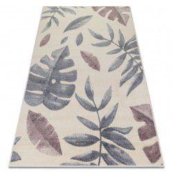Teppich HEOS 78428 creme / rosa Blätter