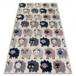 Teppich HEOS 78468 creme / rosa / blau / grau SCHAFE