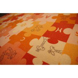 Baby-Teppich PUZZLE orange