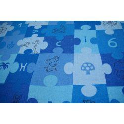 Baby-Teppich PUZZLE blau