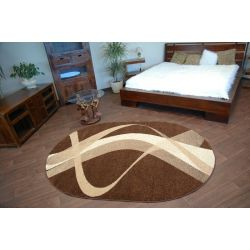 Teppich KARMEL oval braun braun