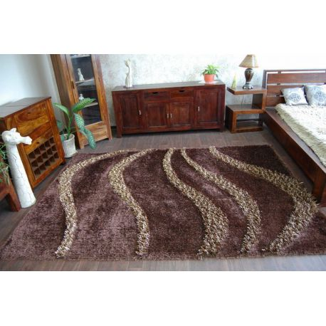 Teppich SHAGGY MYSTERY 0118 braun
