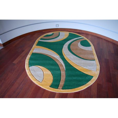 Teppich oval RUBIKON 8017 grün