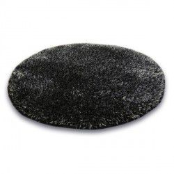 Teppich Kreis SHAGGY NARIN P901 black melon