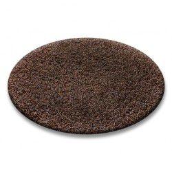 Teppich rund SHAGGY 5cm braun