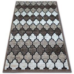 Teppich ACRYL YAZZ 3766 Dunkelbeige/Lachs Trellis