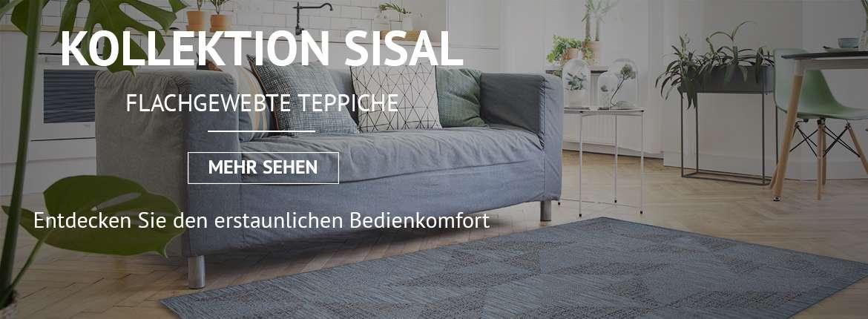 Flachgewebte teppiche, sisal, FLOORLUX, FLAT, NATURE, COLOR